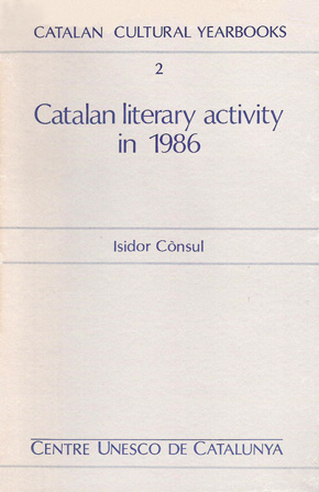 Catalan literary activity in 1986
